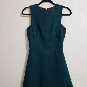 Zara structured teal dress